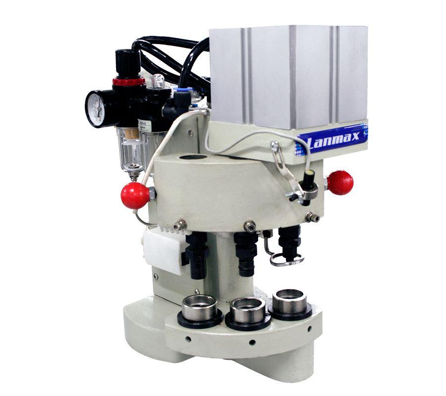 Máquina de pregar botão e ilhós de 3 cabeças Lanmax (VENDA SOB CONSULTA)