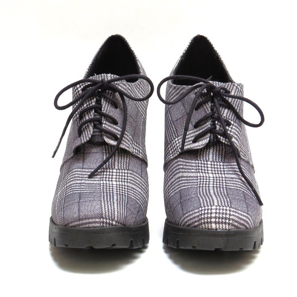 Ankle boot tratorado - Xadrez