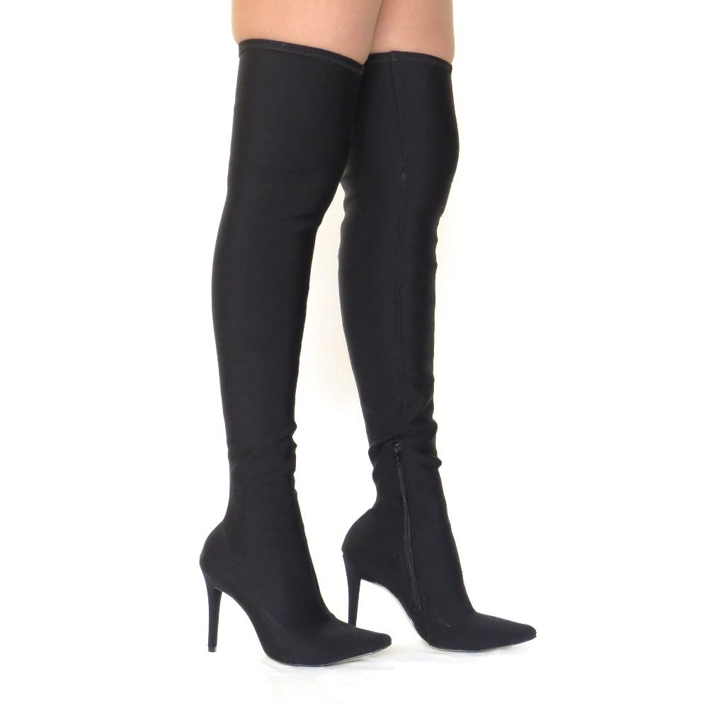 Bota Over The knee em neoprene