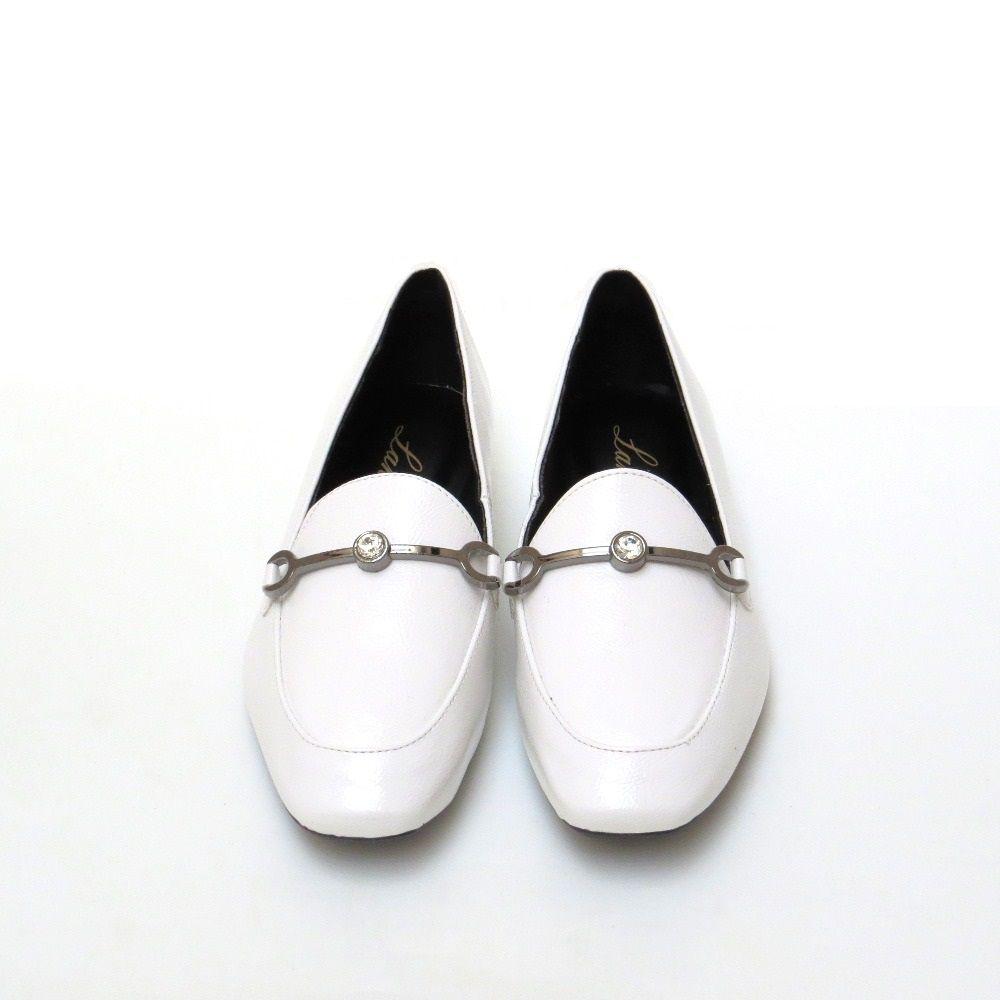 Loafer em verniz - Branco