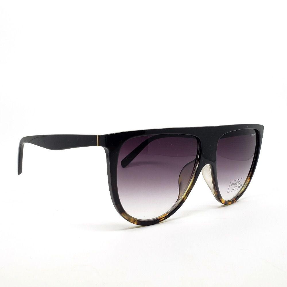 a0c60c67b ... Óculos de Sol Phelps - Preto com onça - Lahe Calçados ...