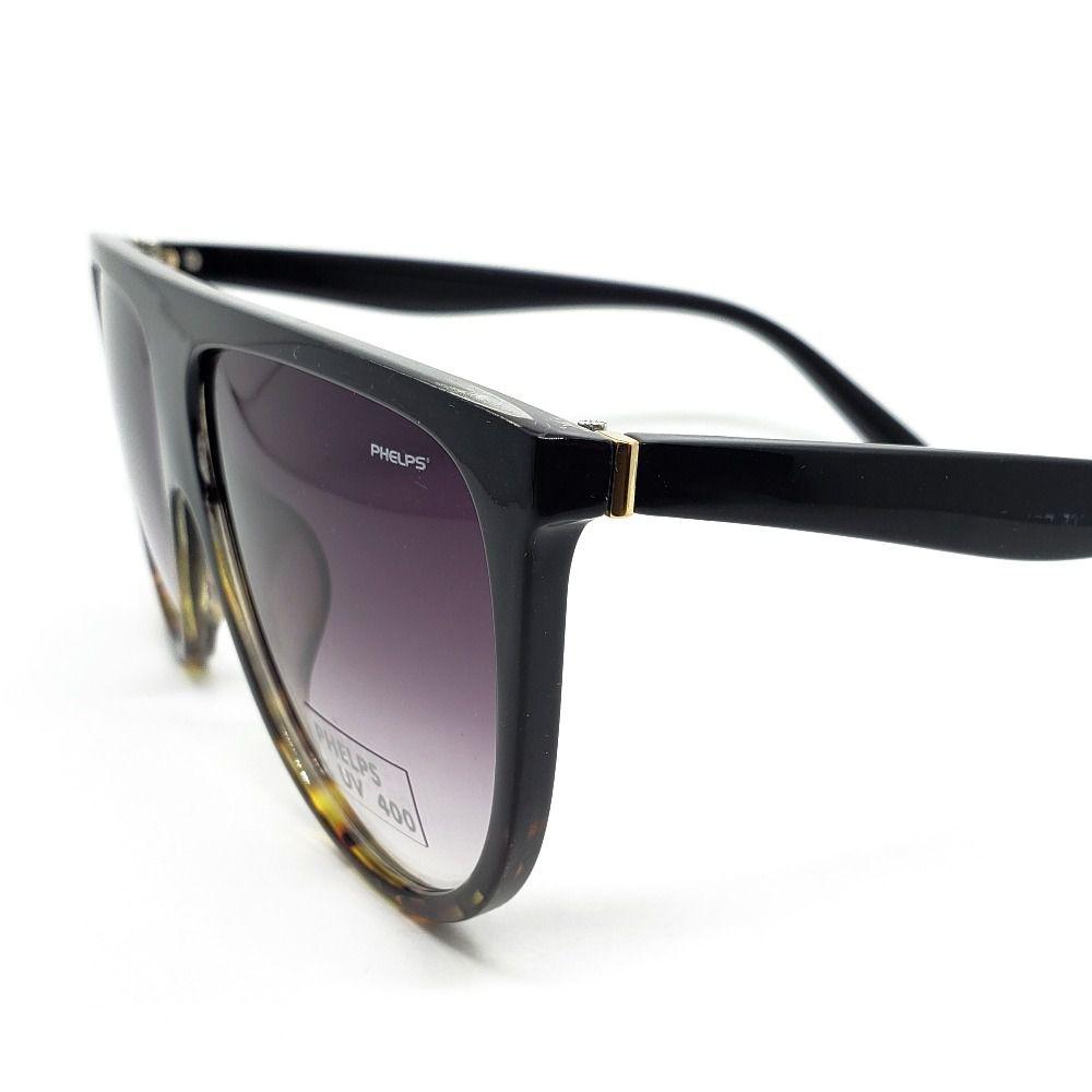 b00ae9601 ... Óculos de Sol Phelps - Preto com onça - Lahe Calçados