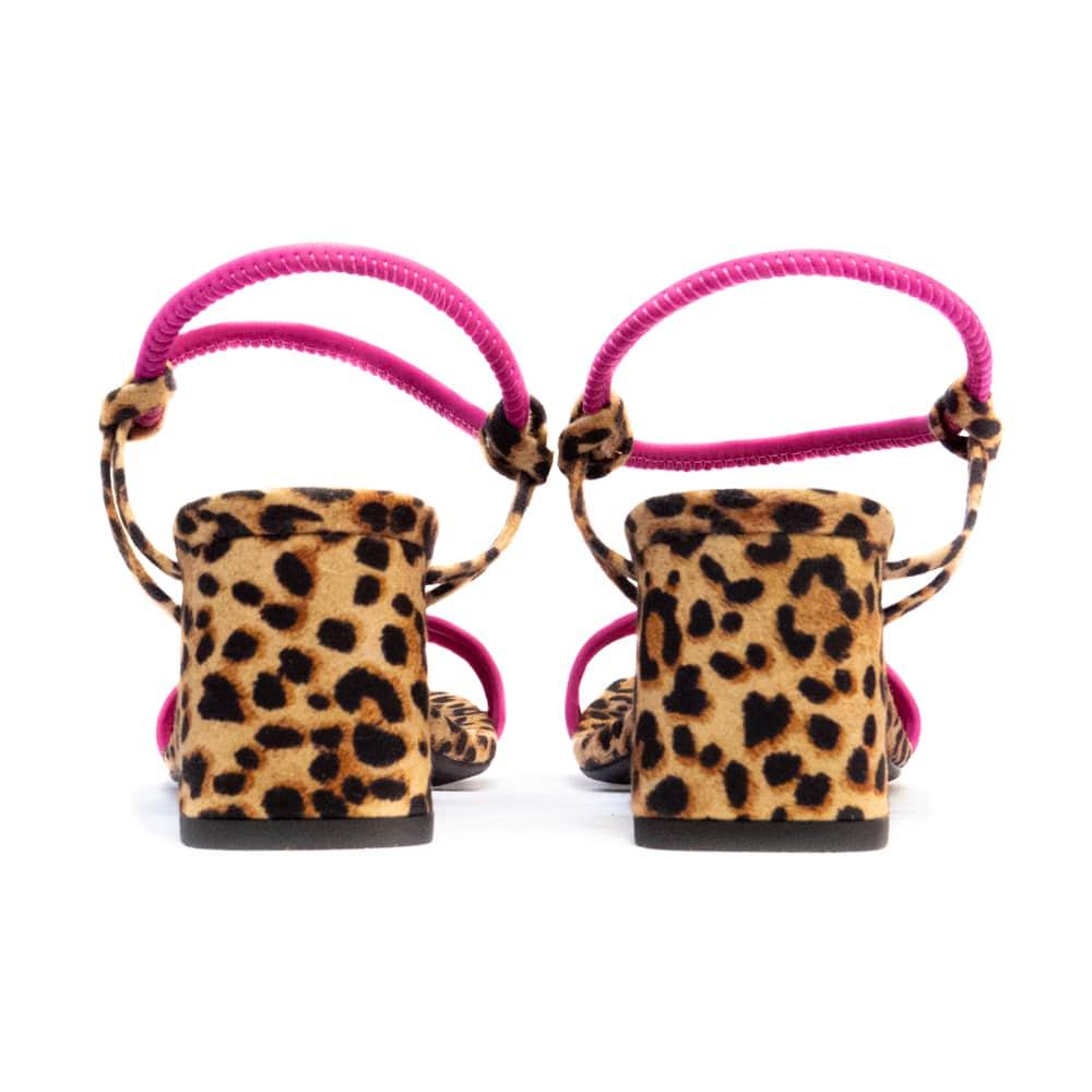 Sandália Amanda - Animal Print com Pink