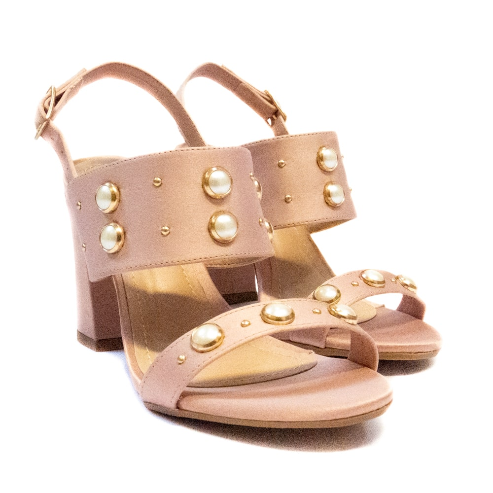 Sandália com Pérolas - Rosê