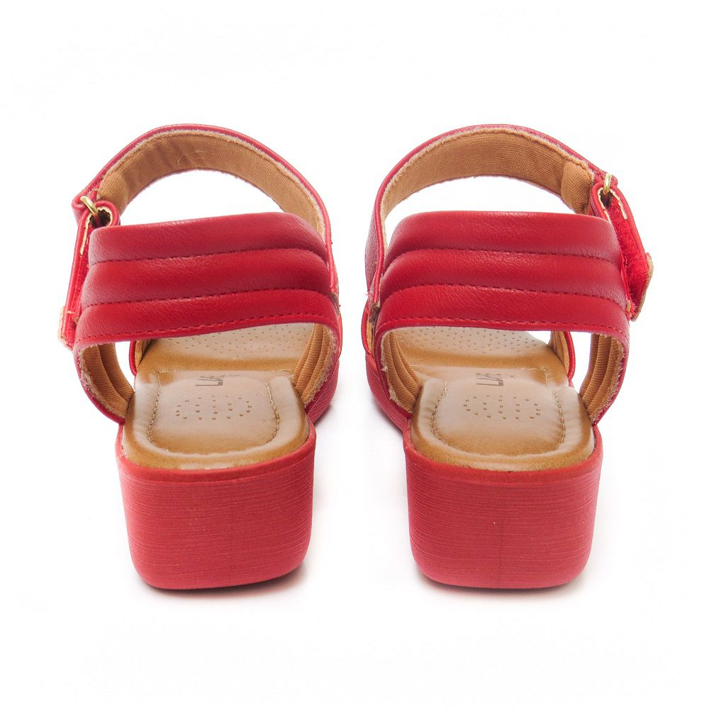 Sandália confort Cláudia - Vermelha