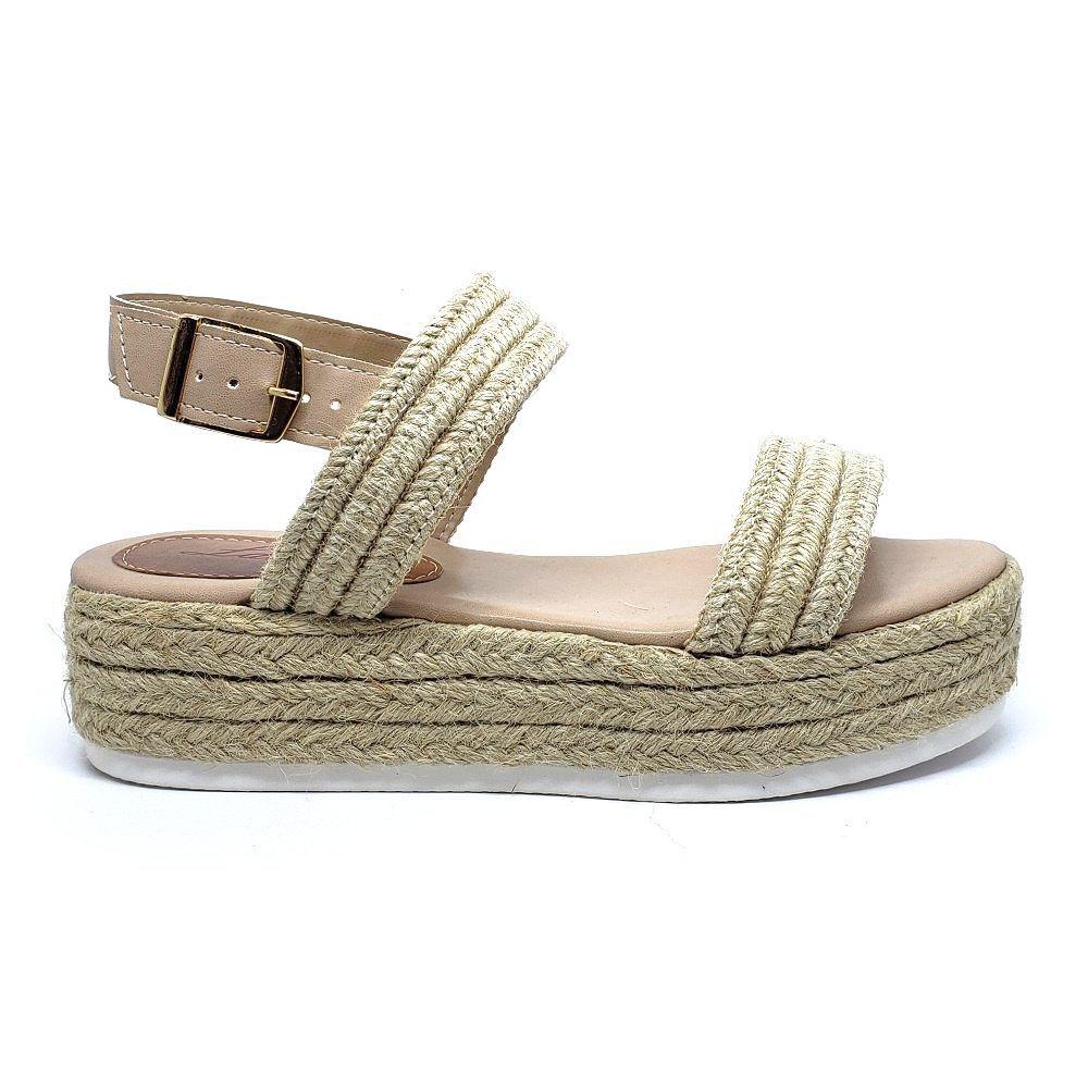 Sandália Flatform de corda - NATURAL
