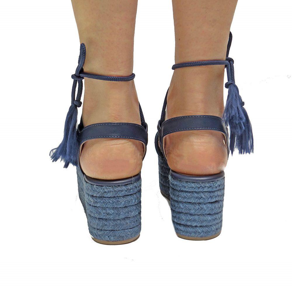 Sandália Flatform Stephanie - Azul Marinho