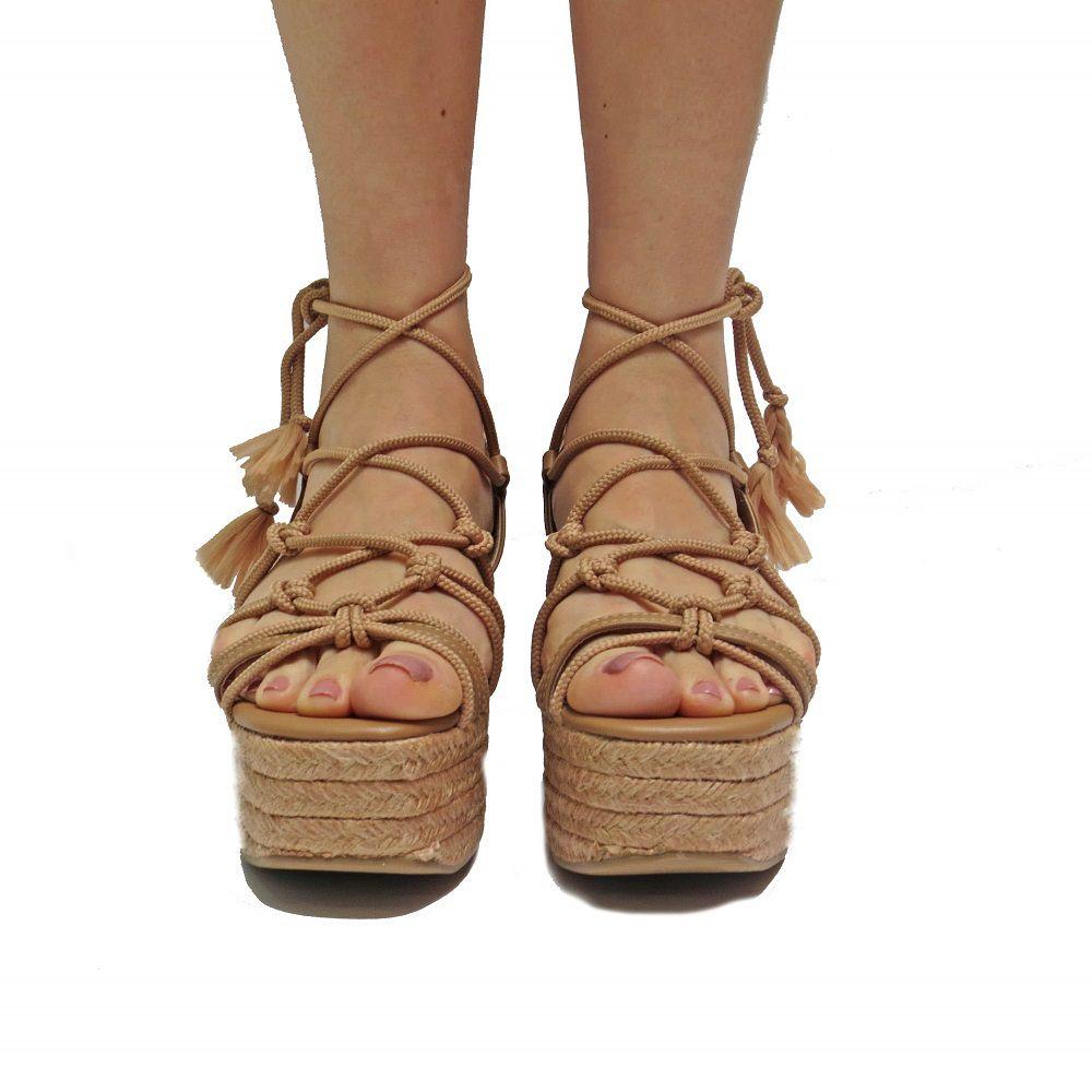 Sandália  Flatform Stephanie - Bege