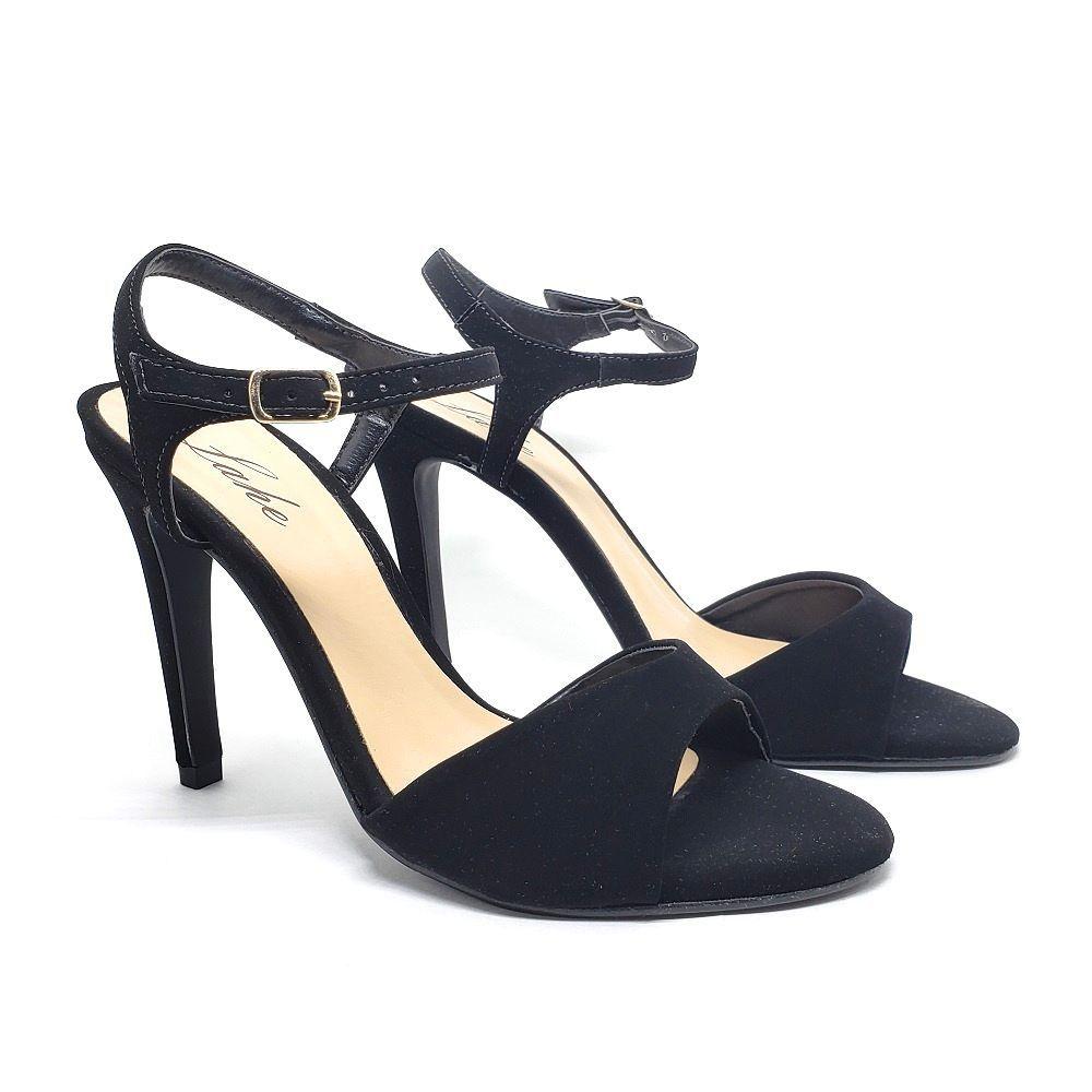 Sandalia single salto fino - Preto