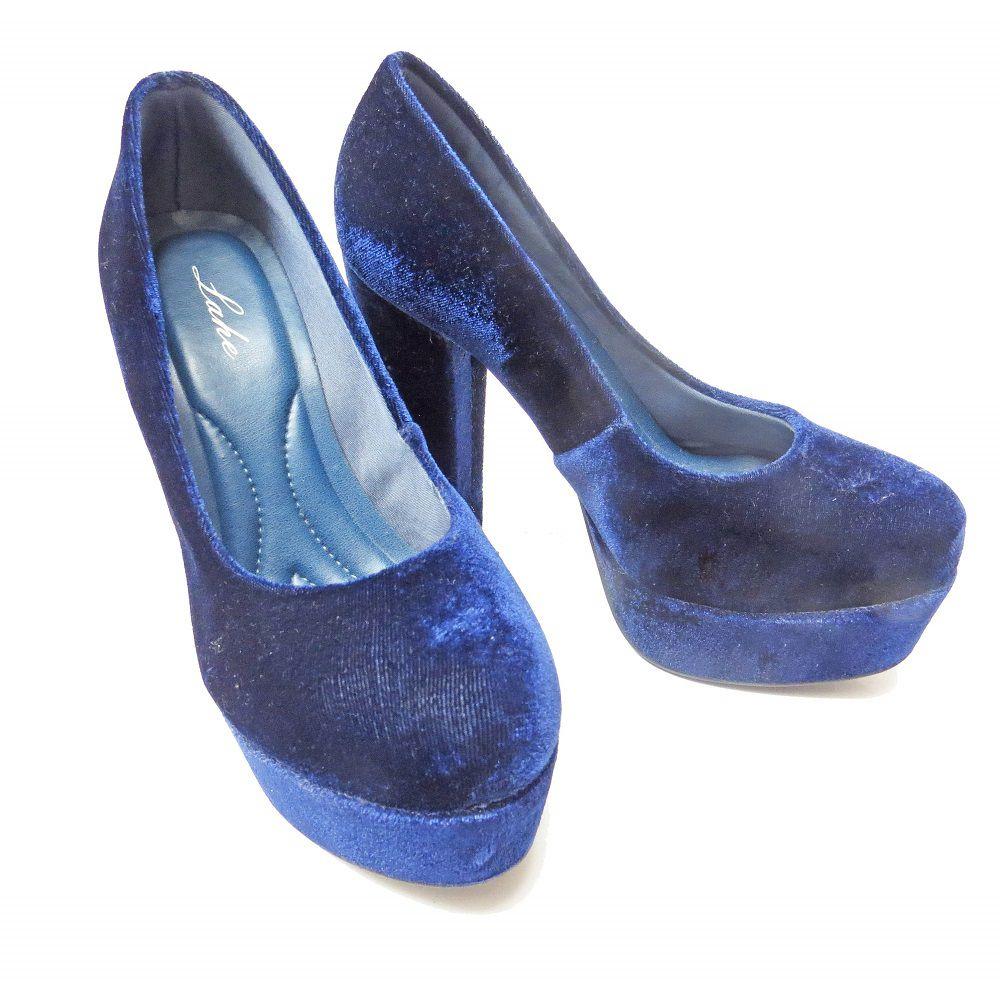Scarpin meia pata - Azul Marinho
