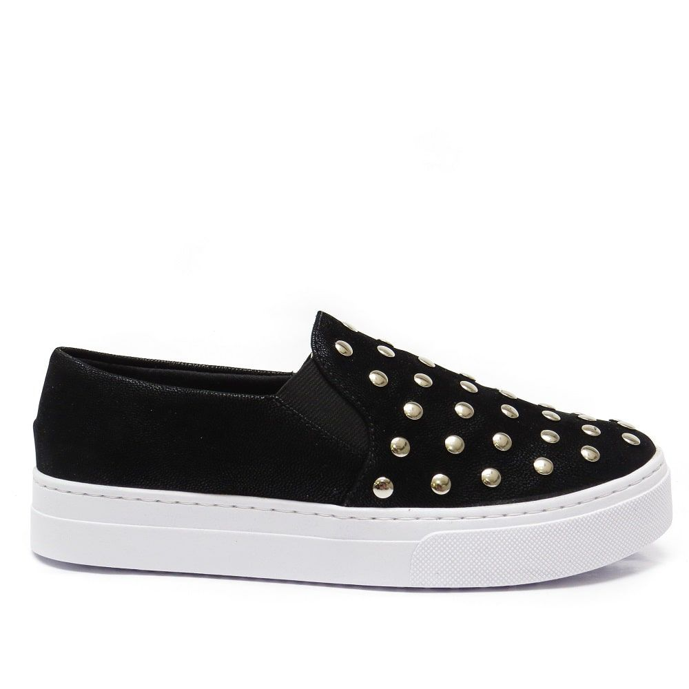 Slip On com metais - Preto