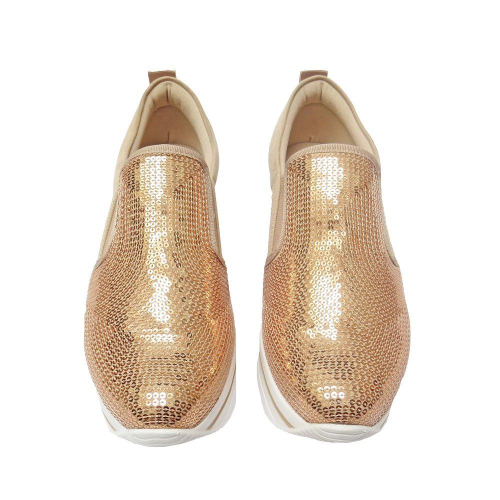 Slip On Flatform Eliza - Dourado