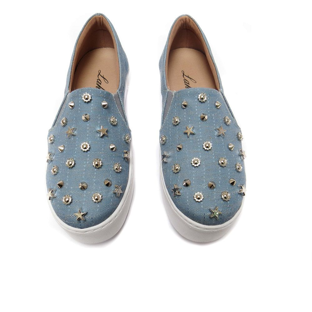 Slip On  Marcela - Azul Claro