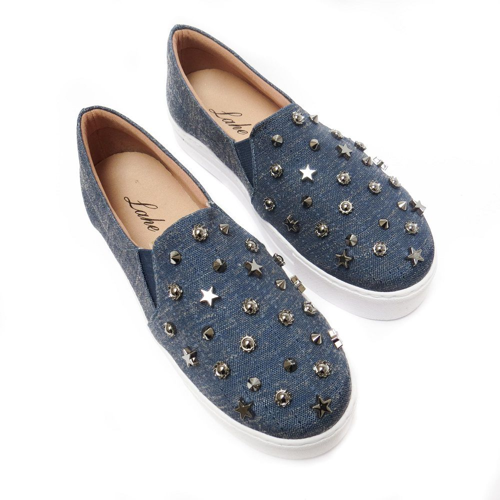 Slip On  Marcela - Azul Escuro