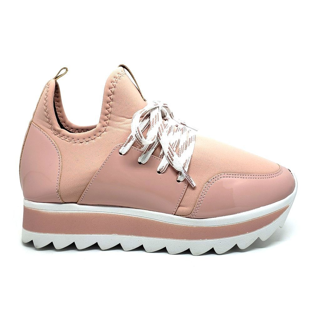 TENIS JOGGING POMPEIA EM STRETCH - Rose