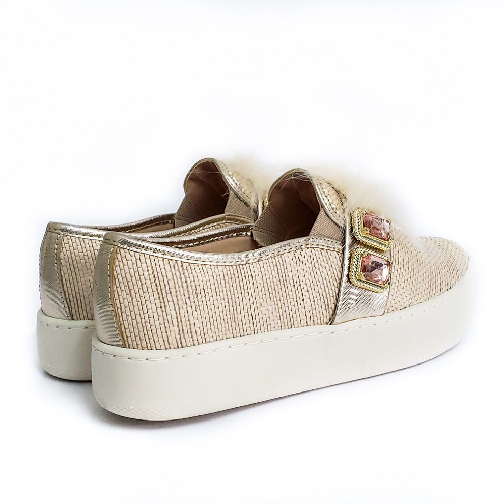Tenis Slip On Norman - Bege