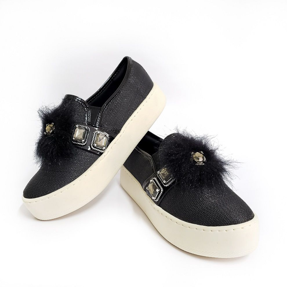 TENIS SLIP ON NORMAN - PRETO