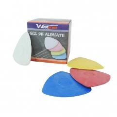 Giz Colorido Alfaiate 10 Unidades - WestPress
