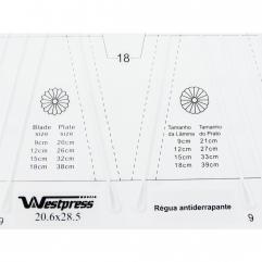 Régua para Dresden Criativa Flor Pétulas 22 x 20 cm - WestPress