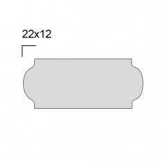 Rolo de Etiqueta para Etiquetadora com 10 Rolos modelo P8 26x12mm - WestPress
