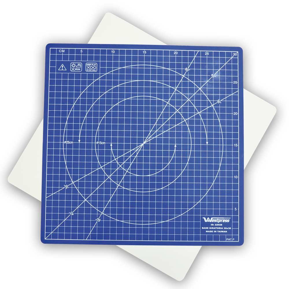 Base para corte de Tecido Giratória 30x30cm - Westpress