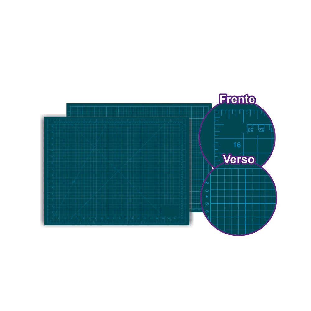 BASE PARA CORTE DE TECIDOS PATCHWORK E SCRAPBOOK FRENTE E VERSO 90X60 - 3mm - WESTPRESS