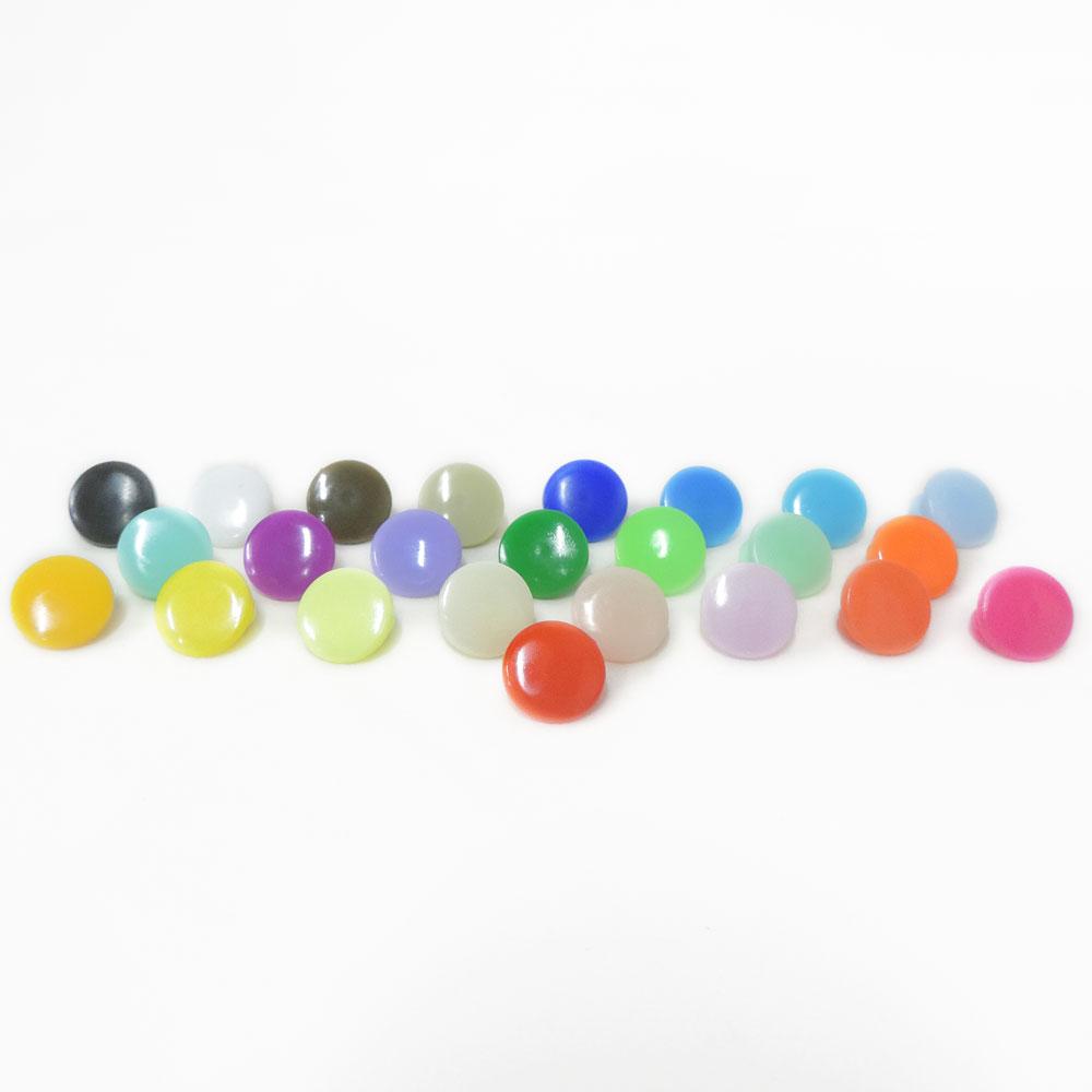 Estojo com 360 Botões Ritas de Pressão de Plástico com 24 Cores - WestPress