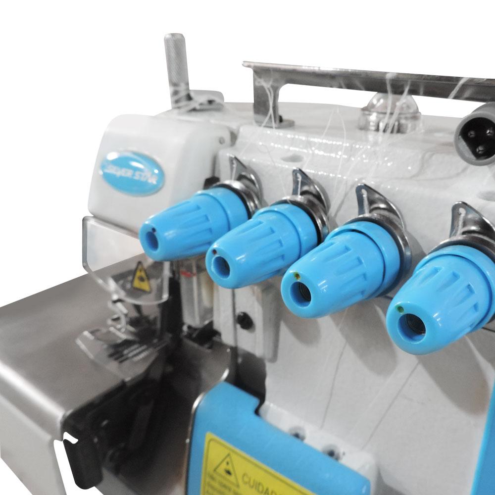 Máquina de Costura Industrial Overloque 1 Ag e 3 Fios Direct Drive S8-3DC/E  - Silverstar