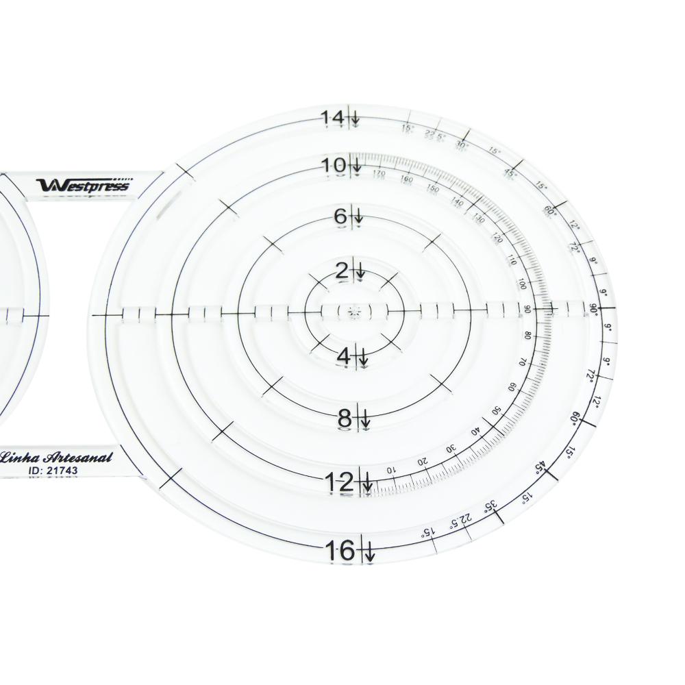 Régua Criativa Circulos 15x16 - WestPress