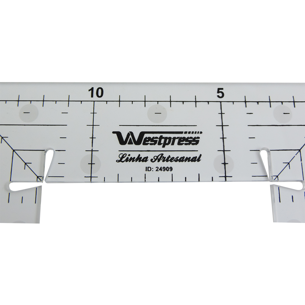 Régua Quadrada Patchwork - WestPress