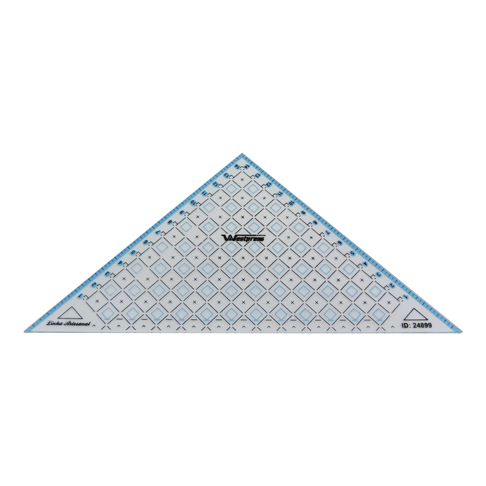 Régua Triangular para Patchwork - WestPress