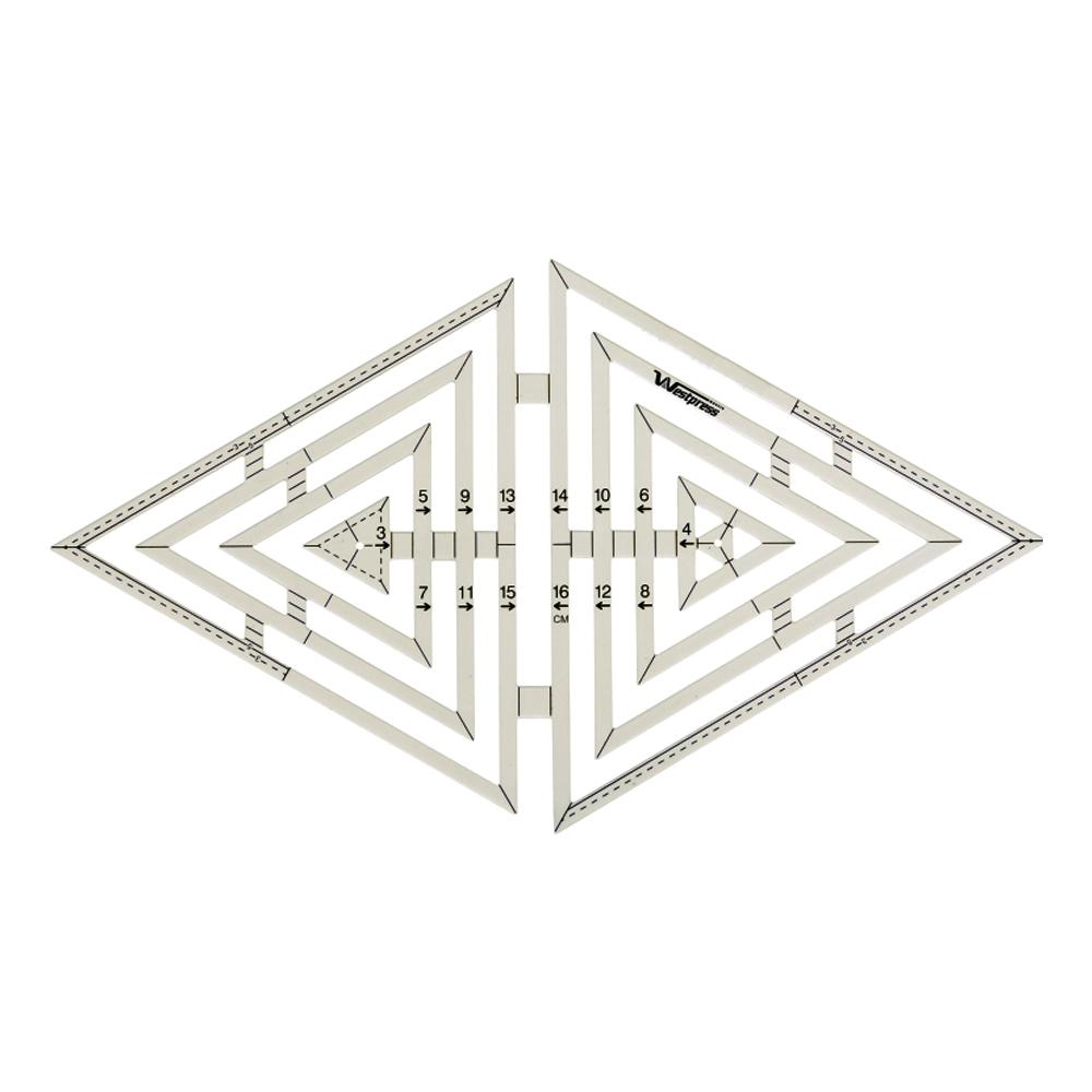 Régua Triângulo 15 x 16 cm