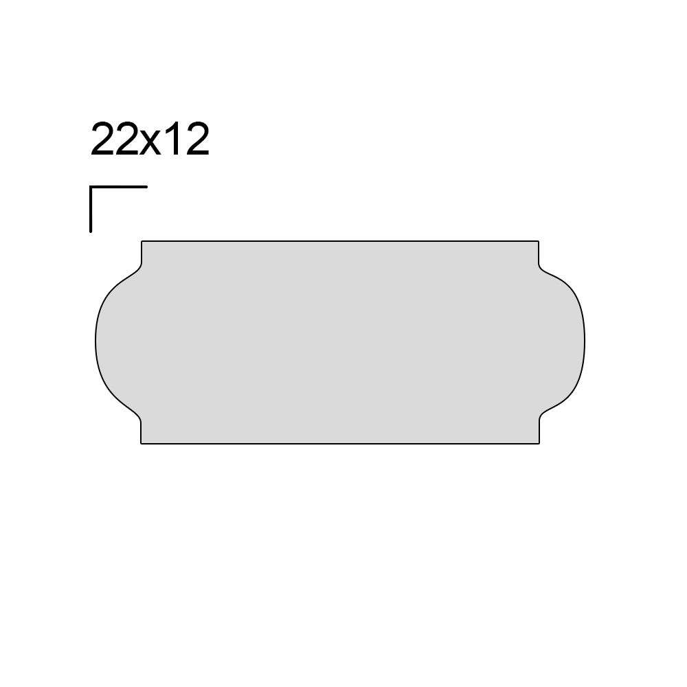 Rolo de Etiqueta para Etiquetadora com 10 Rolos modelo P6 22x12mm - WestPress