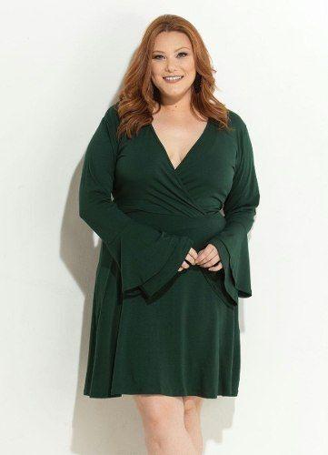 Vestido Social Verde Plus Size