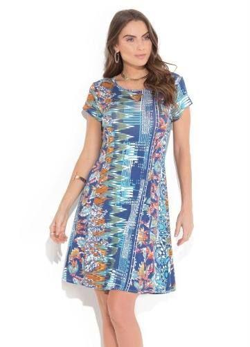 812c2c0257 produto vestido cetim floral plus size - Vestido - De R 44