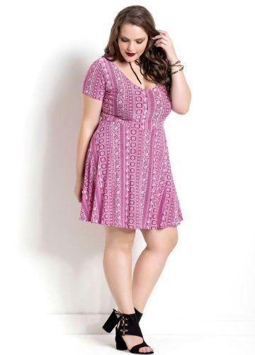 8f1fa4cbd Vestido Rosa Étnico Plus Size - Mifil Roupas Femininas