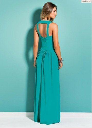 Vestido tubinho azul tiffany