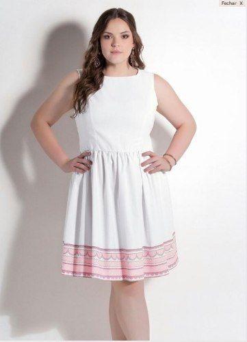 02edebfb60 Vestido Branco Festa Plus Size - Mifil Roupas Femininas
