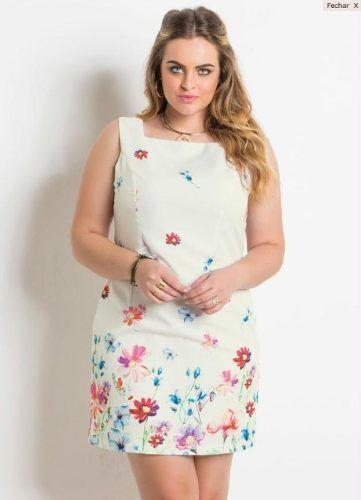4a9865819 Vestido Tubinho Floral Plus Size - Mifil Roupas Femininas