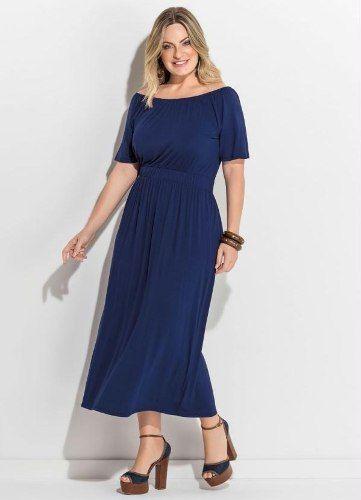f1e59d36520a vestido longuete midi evangelico preto social festa - Vestido - De R ...
