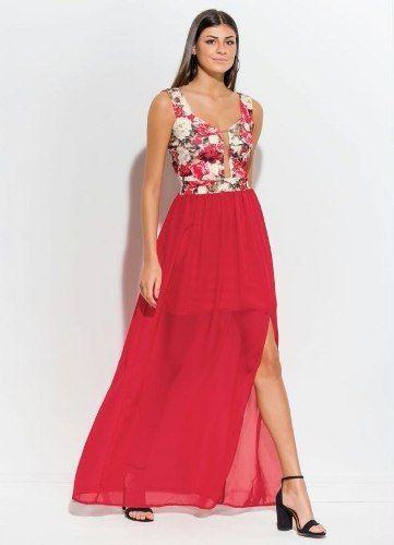 Vestido Festa Florido