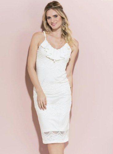 0c0a3e204b Vestido Branco Renda - Mifil Roupas Femininas