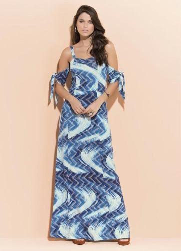 ba3c9505da produto saia cetim florida azul - Vestido - Página 2 - Busca na ...