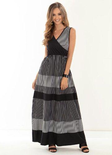 b0422a8f6 produto vestido evase preto - Longo - De R 99