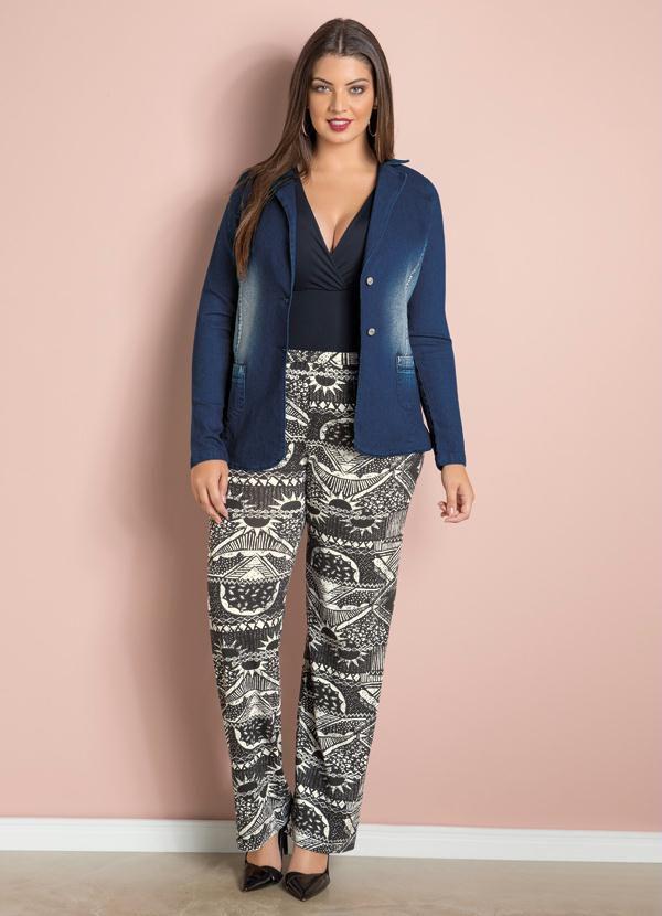 Blazer Jeans Plus Size