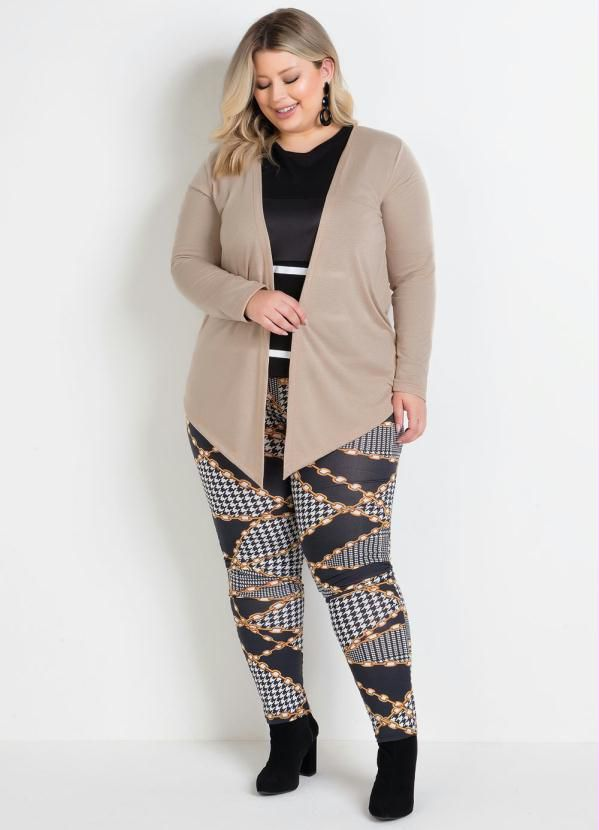 Calça Legging Correntes Plus Size