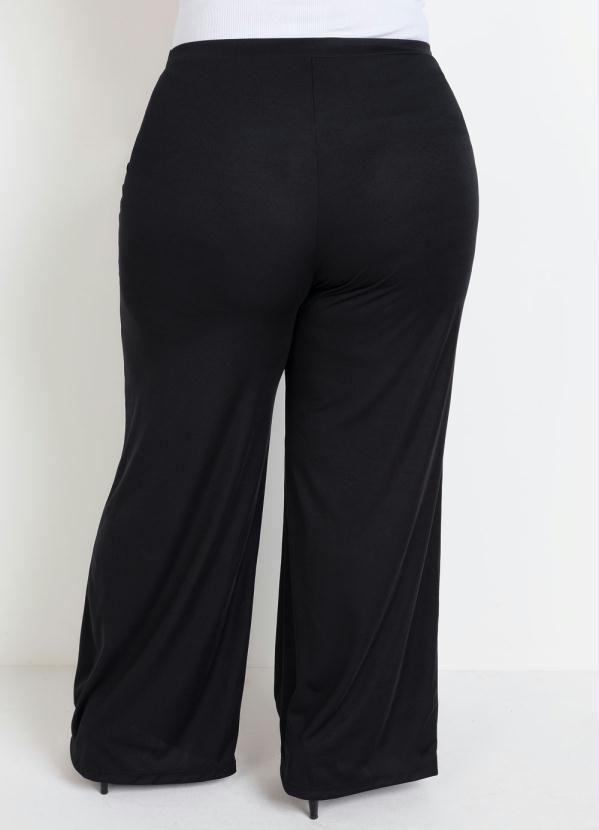 Calça Pantalona Social Plus Size Preta