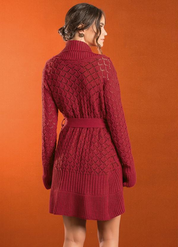 Casaco Alongado Lã
