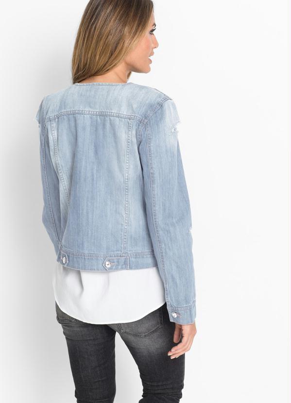 Jaqueta Jeans Claro com Pedrarias