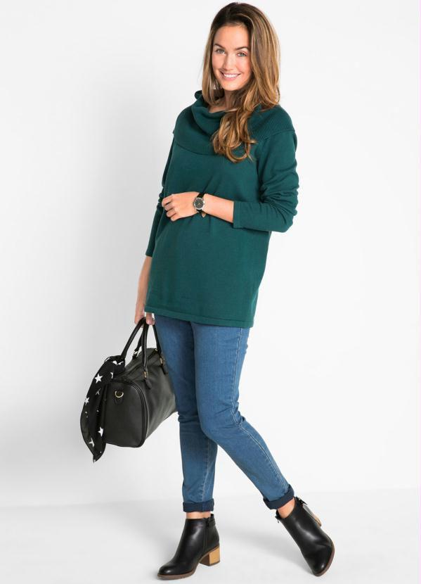 Suéter de Tricot Verde